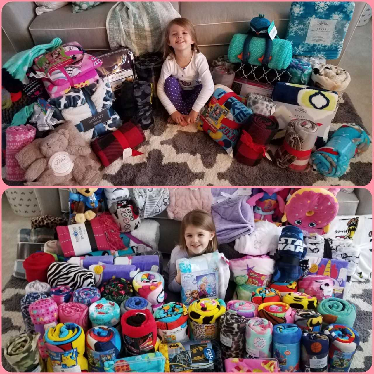 5 year old girl foregoes birthday gifts asks for blankets for sick kids instead